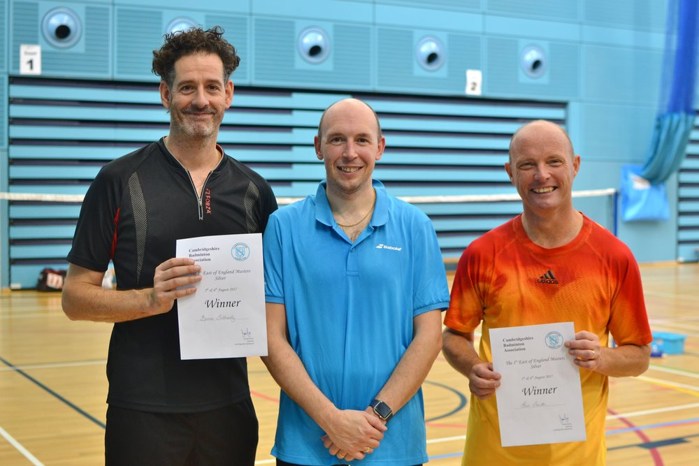 MD Masters O45 winners: Simon Gilhooly and Ian Smith