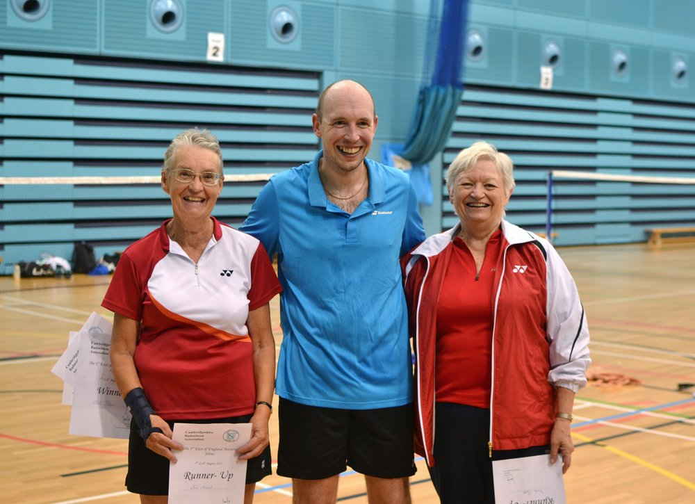 WD Masters O60 runners up: Sue Awcock and Vicki Betts