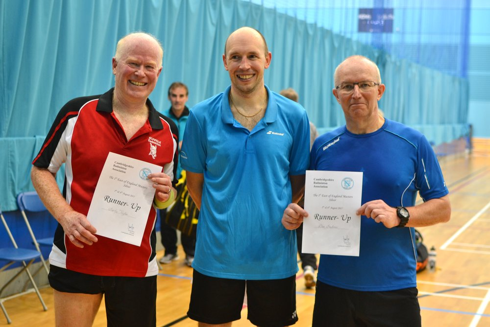 MD Masters O55 runners up: Alexander Taylor and Dave Greatorex