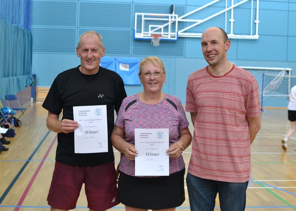 XD Masters O55 winners Robin Wells and Ann Hurst