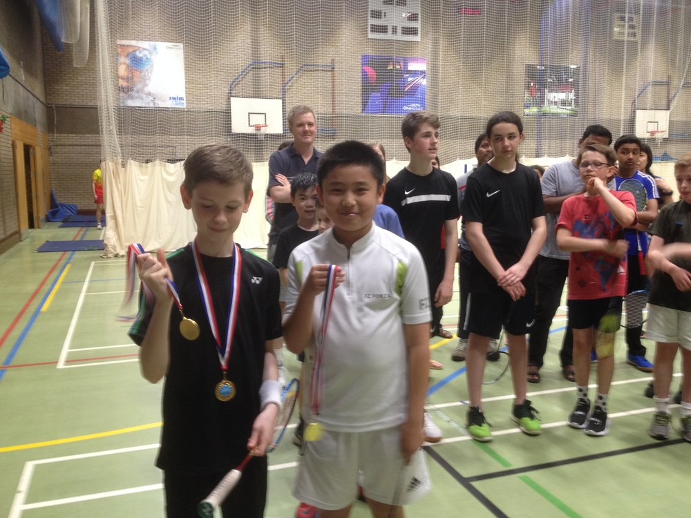 U13 Boys Doubles: Joes Shears/Zihong He