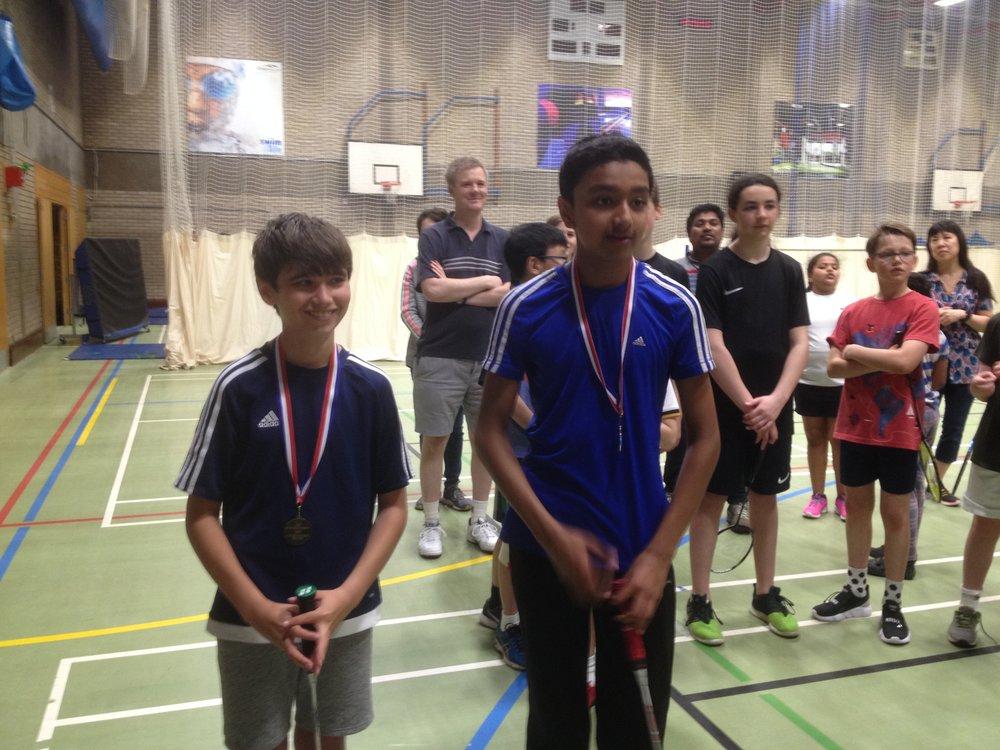 U15 Boys Doubles: Robbie Melton/Mayur Gangi