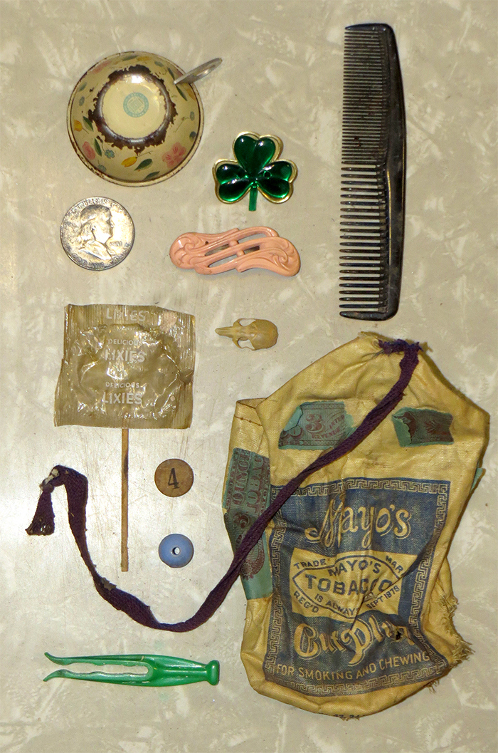 Items found in the walls