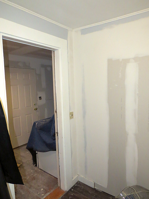 This wall was where the old doorway used to be