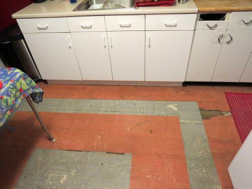 The original kitchen floor.