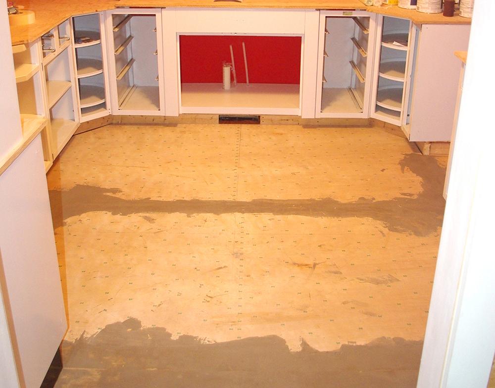 Sub floor installed.