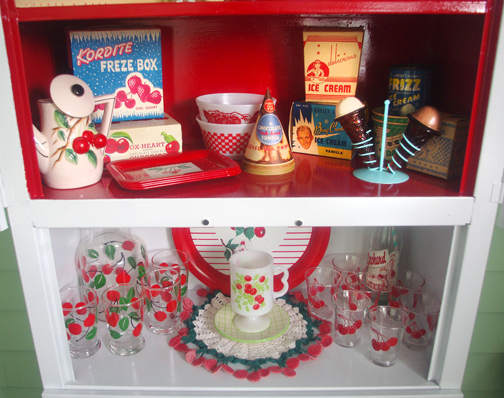 Some of my cherry and ice-cream collections.