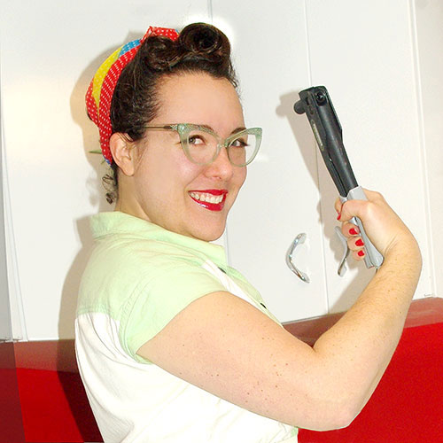 "Just call me ""Rosie the Riveter""!"