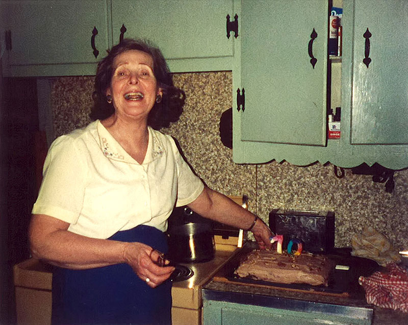 My Grandam Connor, in her kitchen.