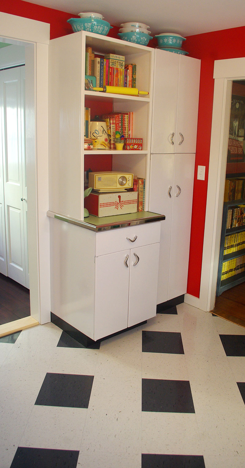 Custom-built cookbook shelf