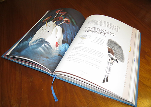 An interior spread of the book.  Photos and illustrations like these are everywhere in this book.