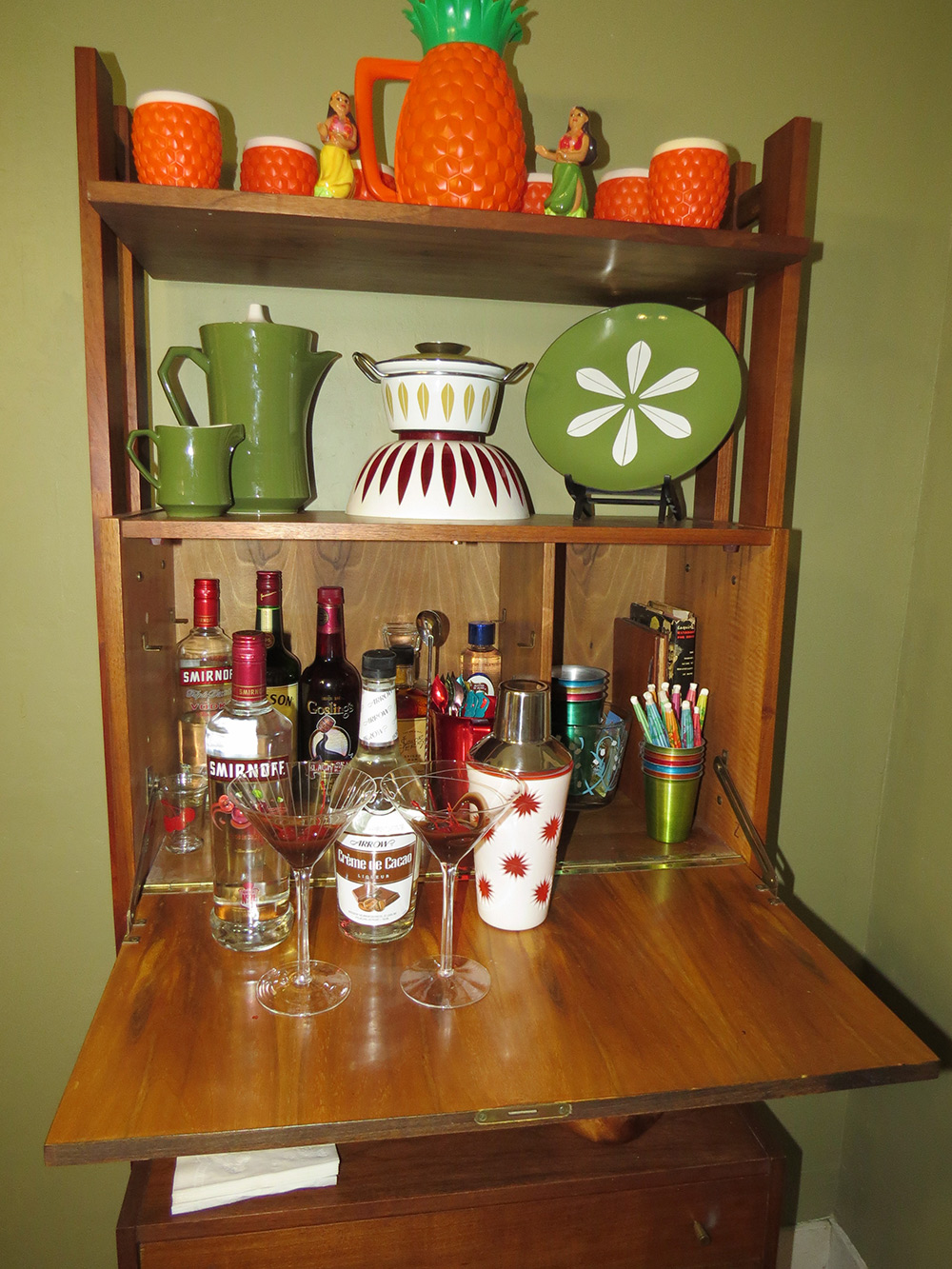 Our new mid-century display cabinet / liquor cabinet