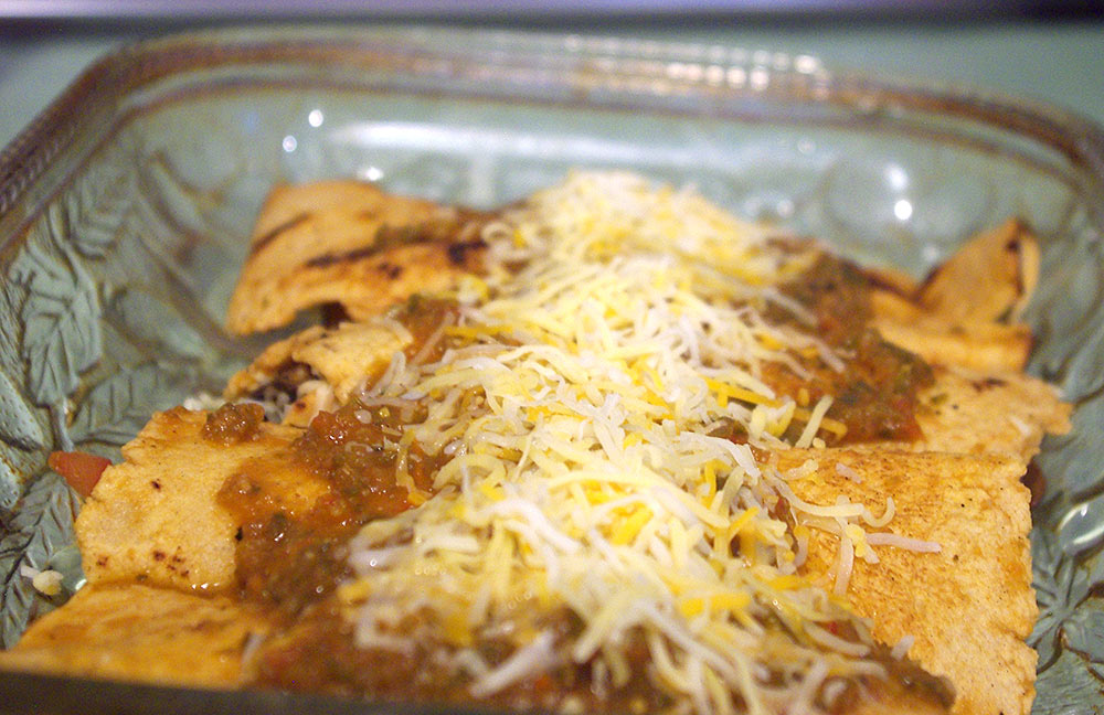 Enchiladas ready to go into the oven