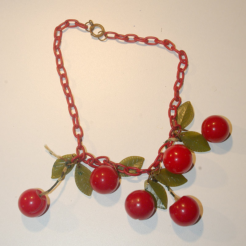 The cherry necklace before repair
