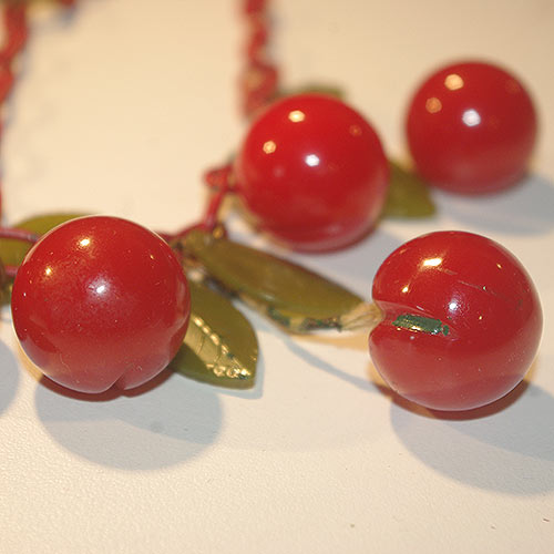 The original cherries with some of the wax transfer