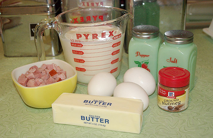 The quiche filling ingredients
