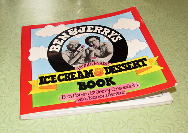 """Ben & Jerry's Homemade Ice Cream & Dessert Book"", published 1987."