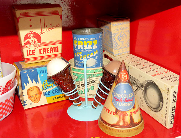 Some of my vintage ice cream collection