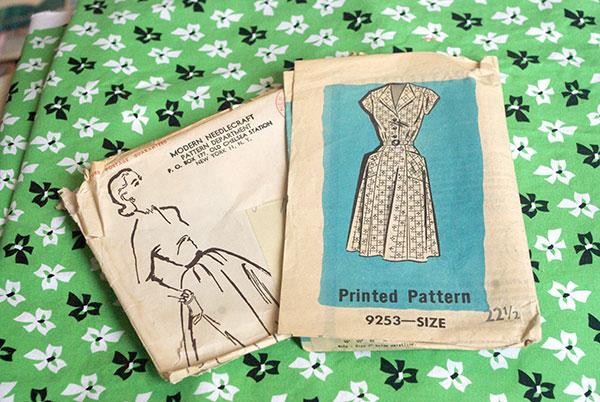 Vintage dress pattern 9253, by Modern Needlecraft.