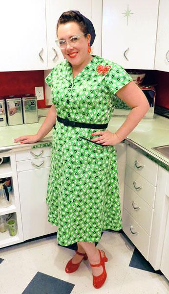 My dress matches my kitchen!