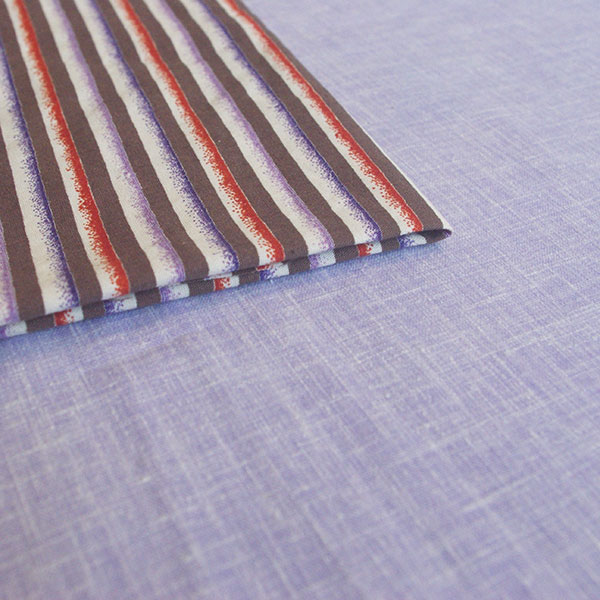 The fabric used for the skirt and blouse