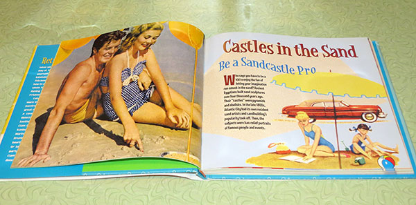 One of the spreads in the book