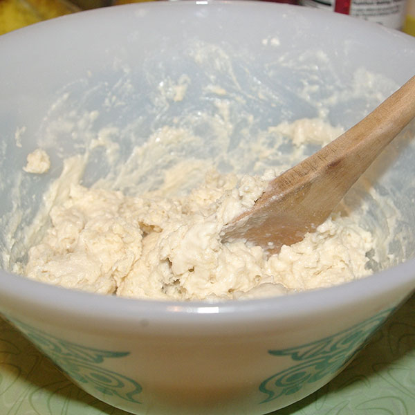 The soft dough mixture