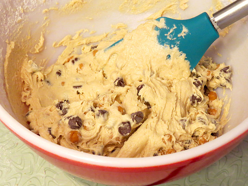 The mixed cookie dough