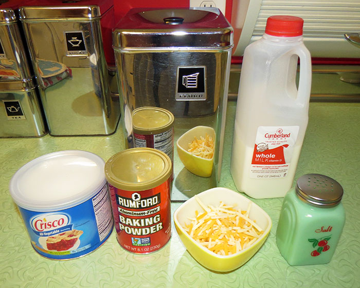 Cheese biscuits ingredients