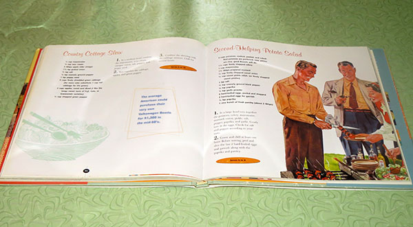 A spread of the cookbook