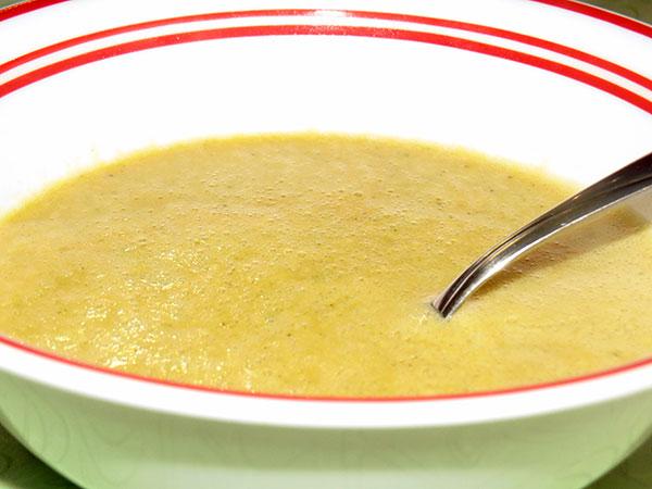 Pumpkin soup after it had been through a blender