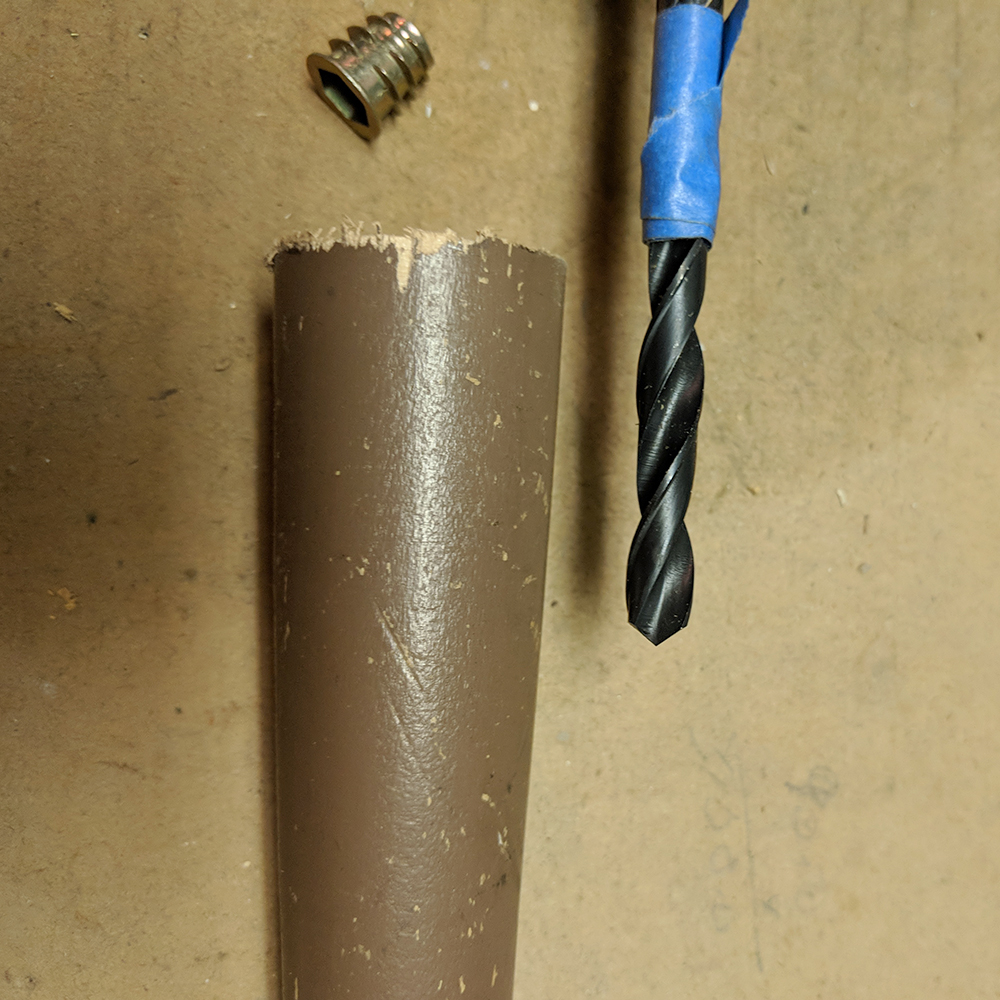 The drill bit with tape guide