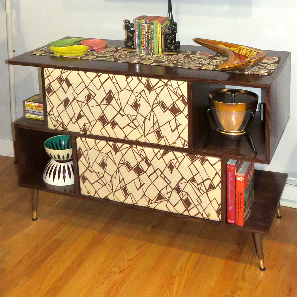 The finished entertainment center