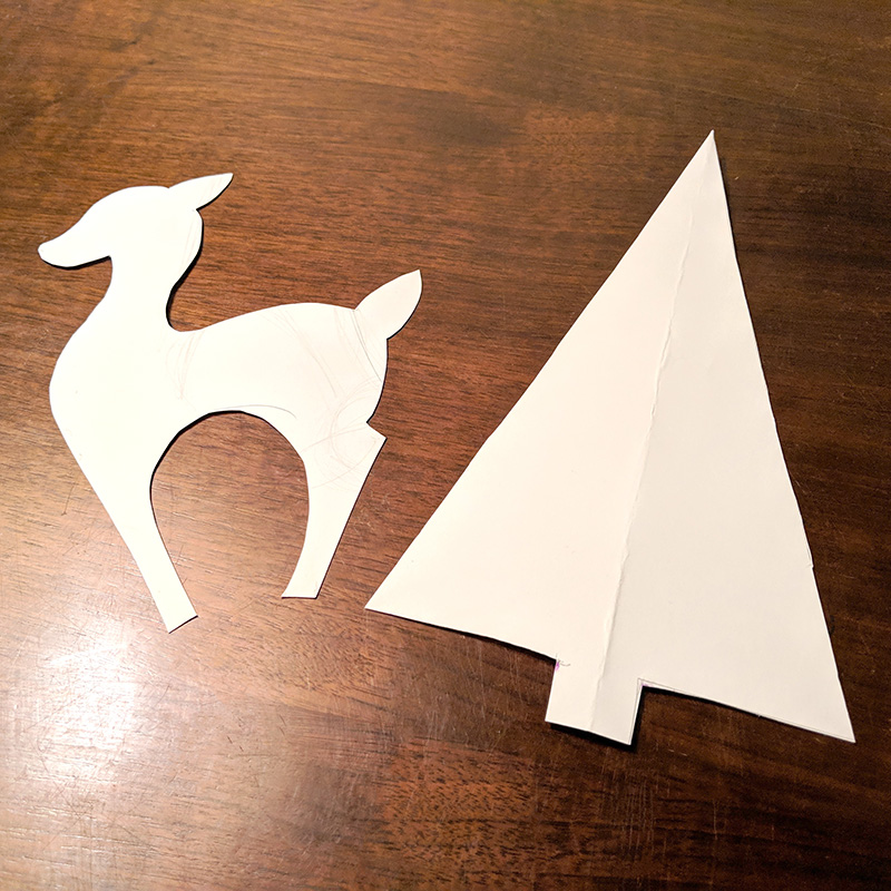 The paper templates for the cut-outs