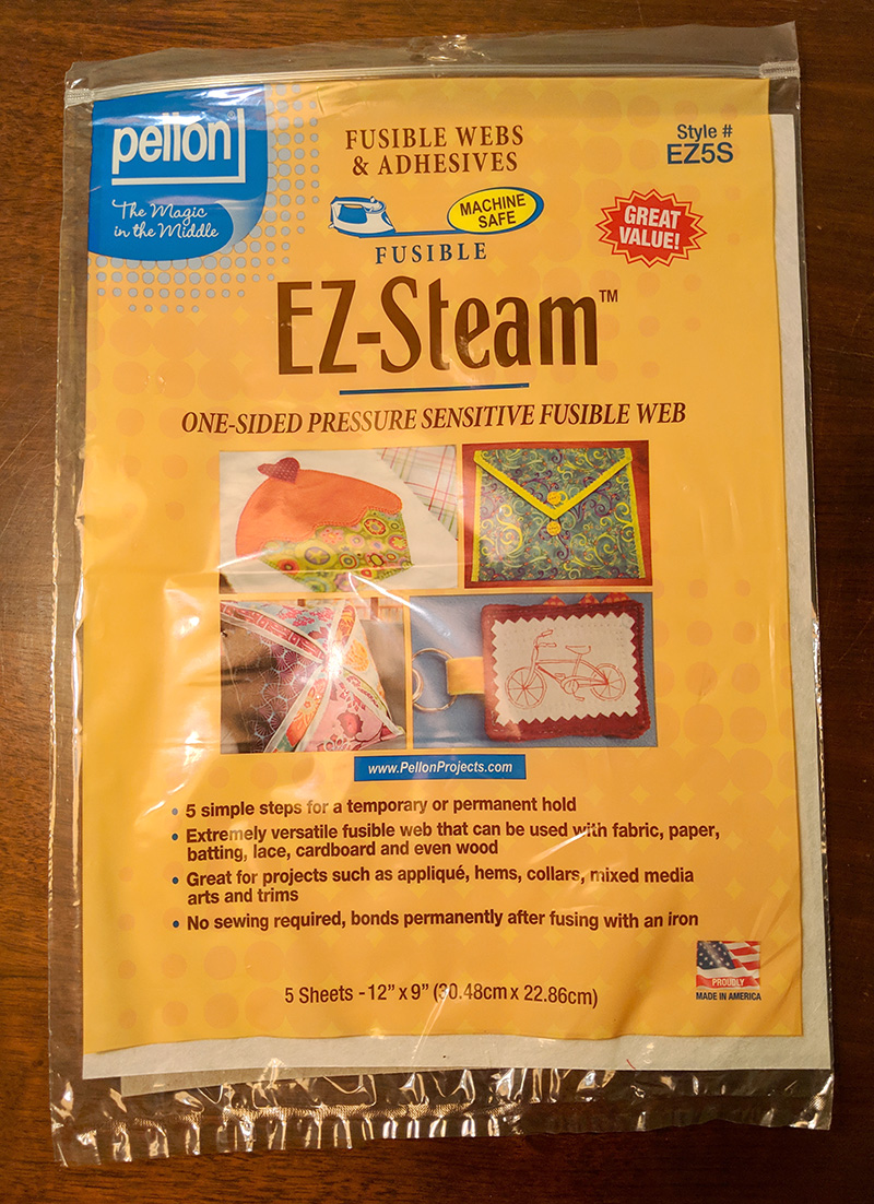 The EZ-Steam fusible web I used to attach the pieces