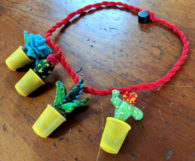 - Inspired by the 1939 Flower Pot Necklace, this cute potted plant necklace is easy to make and requires only a few materials and simple hand sewing.Let's Get Started!