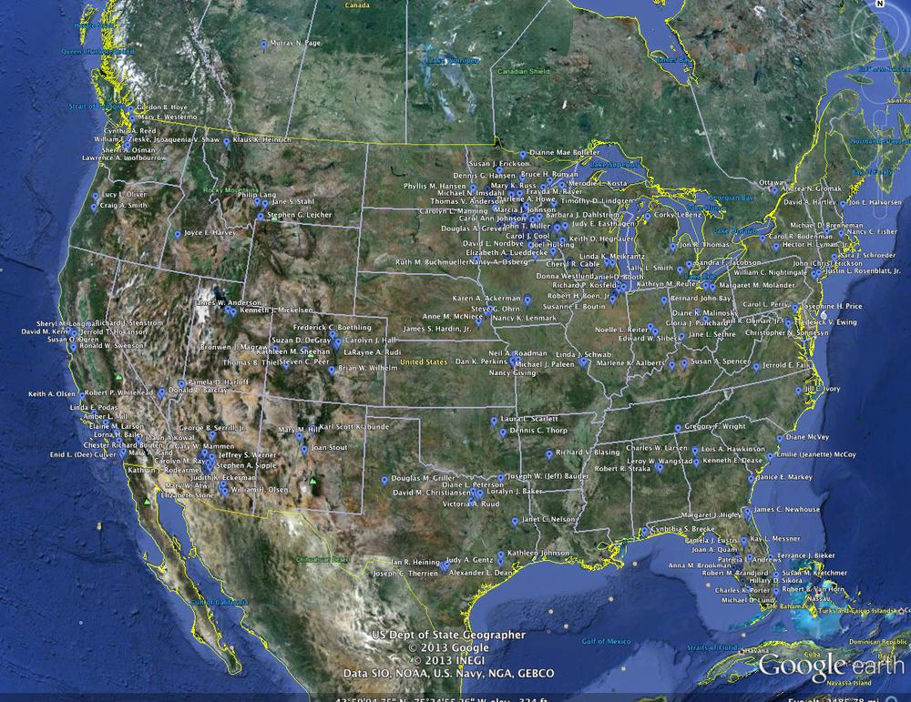 Google Earth Map Washburn Class of 1963