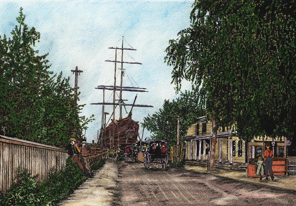 Pt Jefferson Harbor 1900