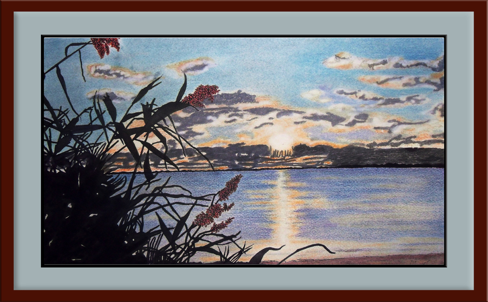 SUNSET on the NORTH FORK Framed