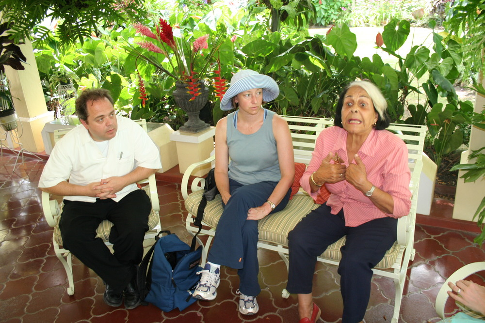 "Dee Dee Mirabal passionately shares her life experiences with our teacher's group.  Her three sisters were martyred in struggle against the Trujillo Dictatorship. They are now national heroes, known as ""Las  Mariposas."" Their story was made well know to U.S. readers through the success of the Julia Alvarez novel, In the Time of Butterflies."