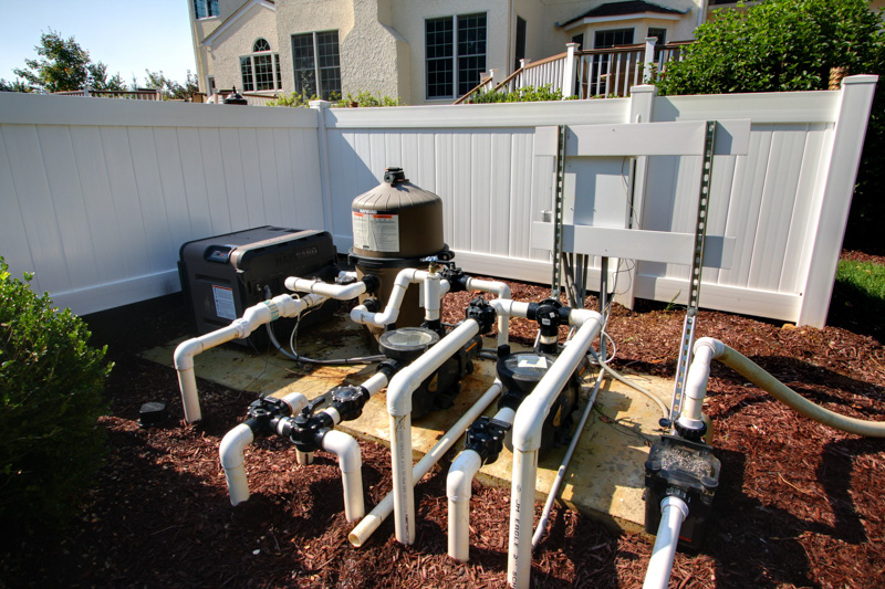 Our inground swimming pool and spa services in new jersey for Inground pool pump and filter systems