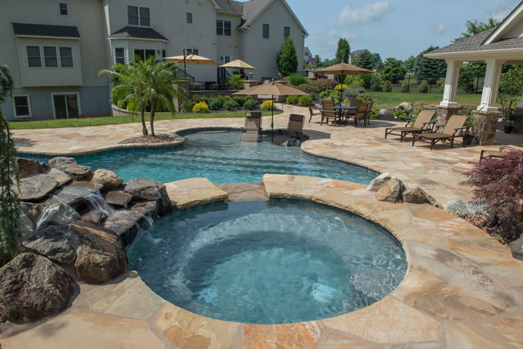 more nj pool spa water feature work