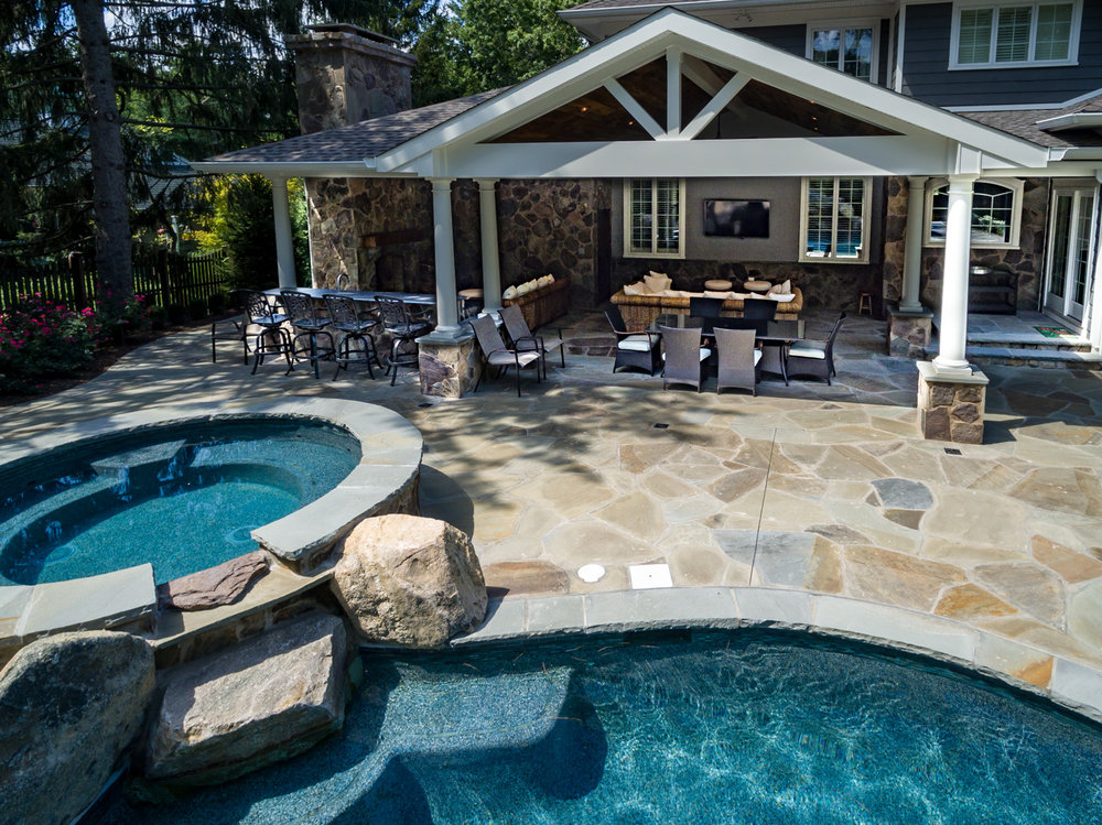 Custom inground swimming pool new providence nj pools by for Pool design hamilton nj