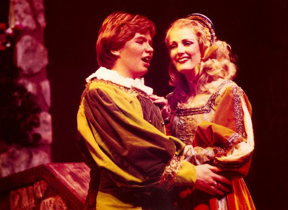 First principal role: As Fenton in  Falstaff  with Gaye Lynn Brunson as Nanetta at Wichita State University.