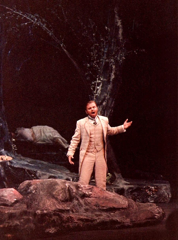 As Lysander in Britten's  A Midsummer Night's Dream , Glimmerglass Opera.