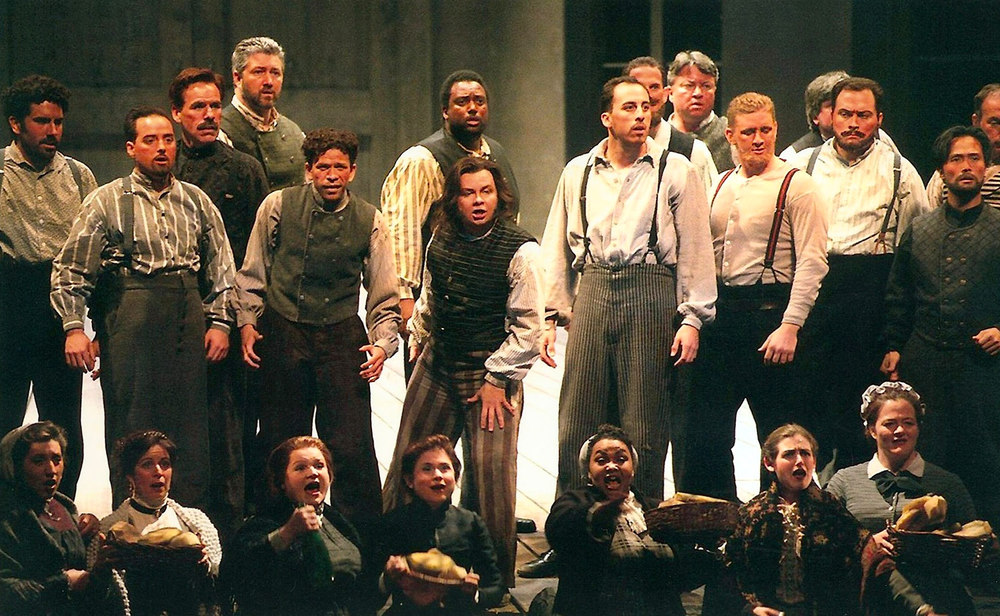 As the Steuermann in  Der Fliegende Holländer  with the chorus. Opera Pacific, California.