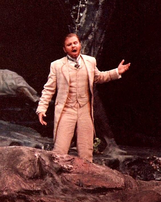 As Lysander in Britten's A Midsummer Night's Dream, Glimmerglass Opera.
