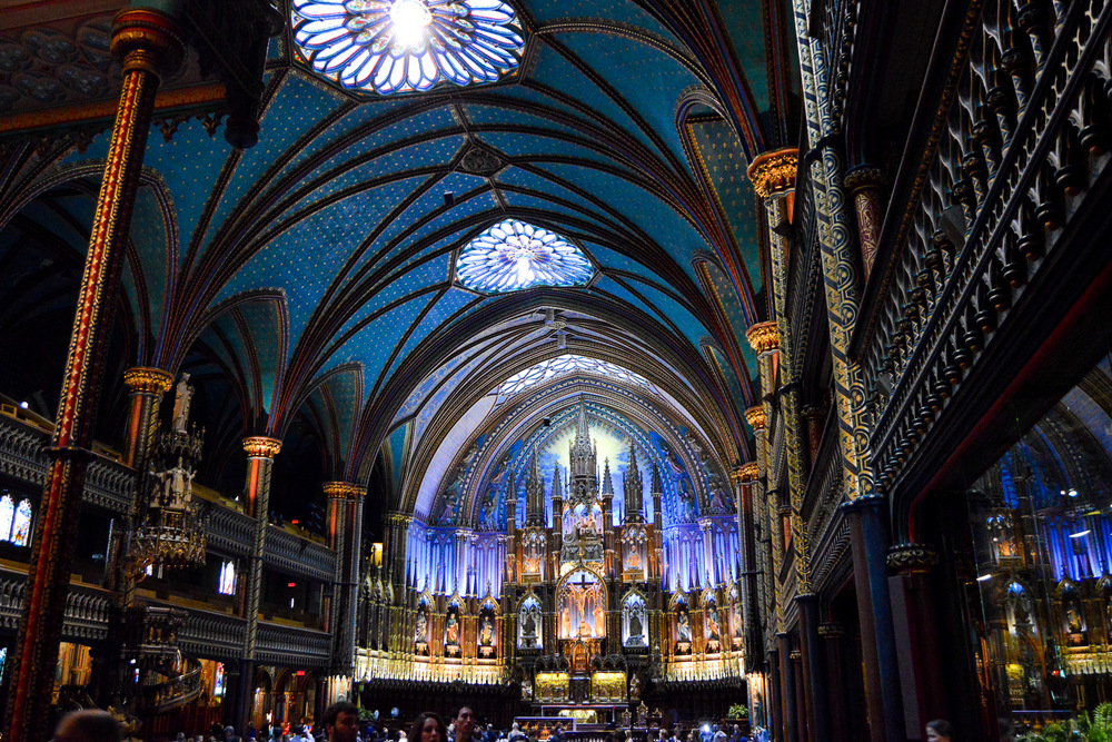 The basilica has an impressive interior.