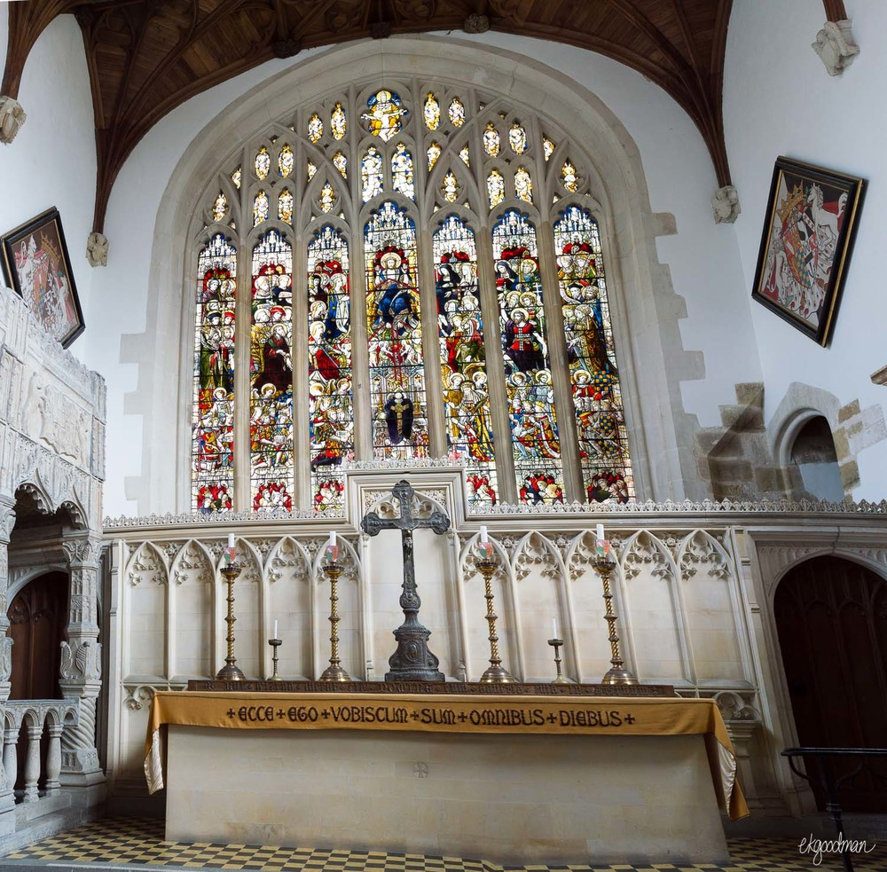 Arundel - Fitzalan Chapel from 1300s, restored in 1800s