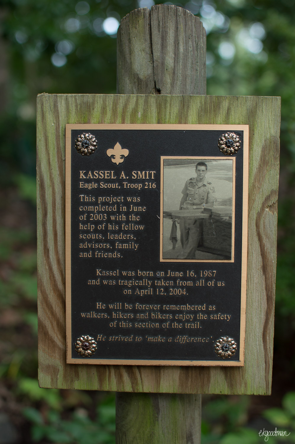 There are also a few boy scout projects, benches, and memorials along the lake trail.